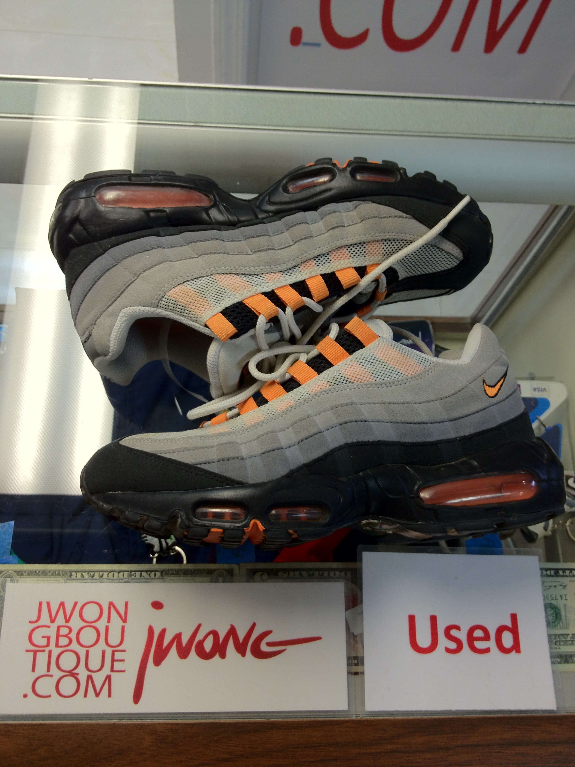 famous brand wholesale outlet cheap air max 95 mandarin orange sneakerclearance
