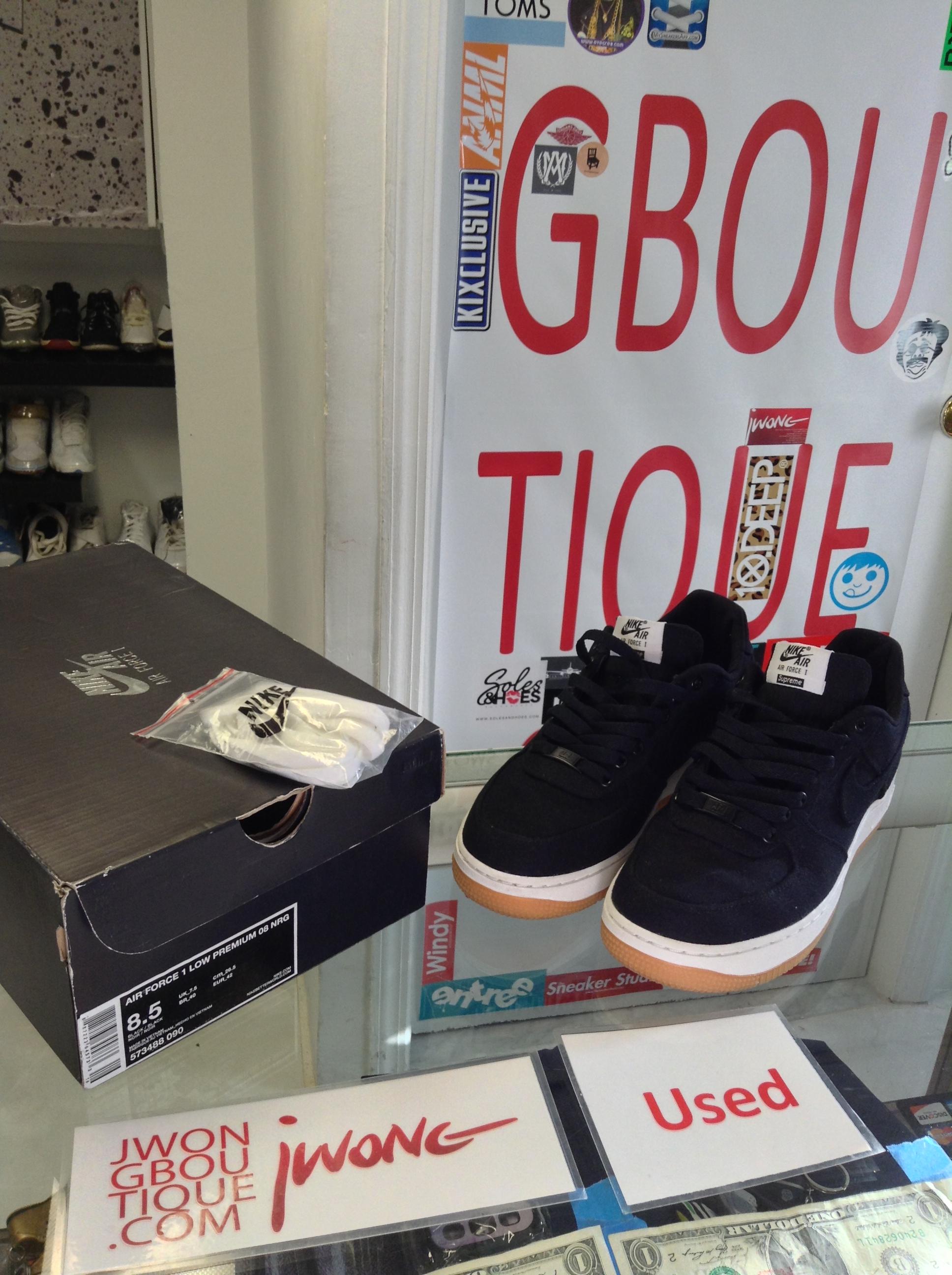 d244cbdc84 2012 Nike Air Force 1 Low Supreme Black Canvas | Jwong Boutique