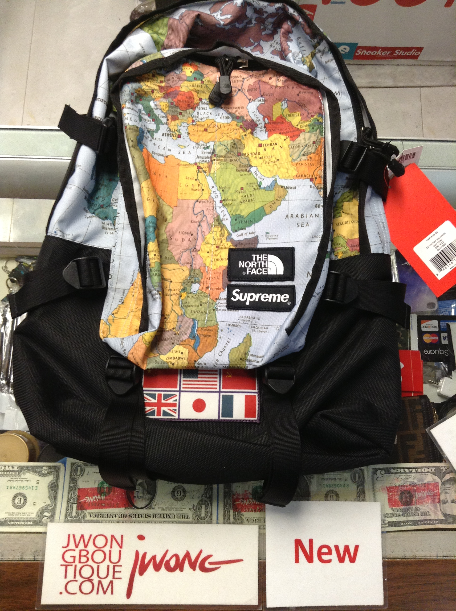 295bcae0e Supreme The North Face Pocono Backpack Power Orange- Fenix Toulouse ...