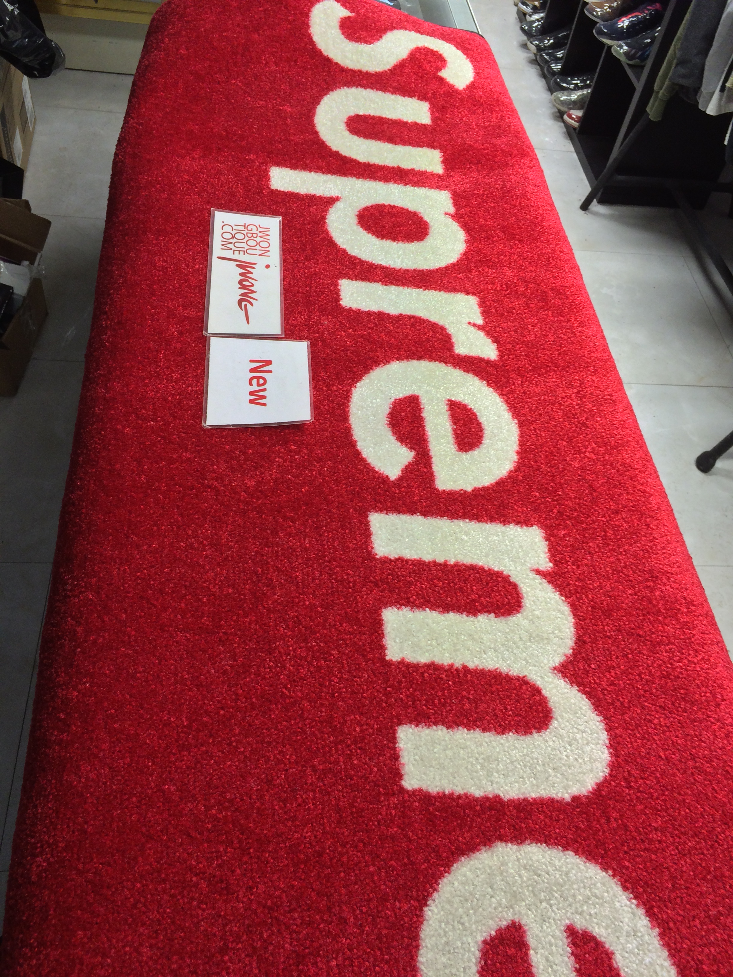 Supreme Rug Red Box Vip 3 Ft By 5 Ft Jwong Boutique