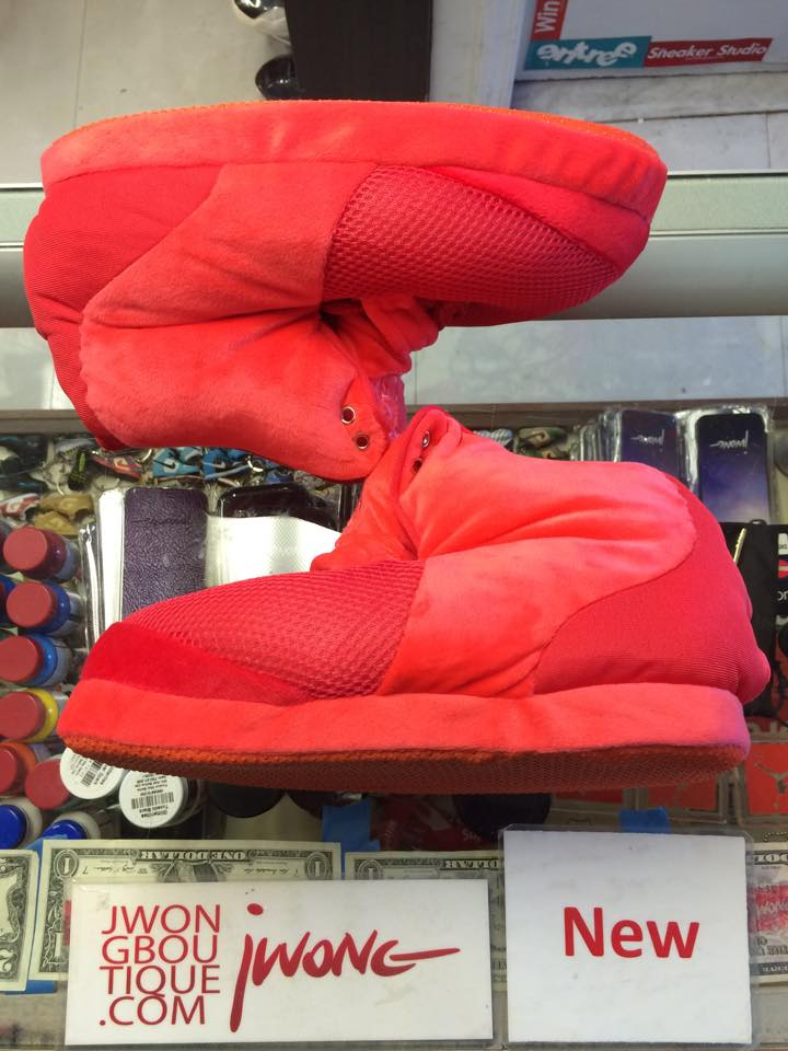 promo code daef6 61a6c 2013 Nike Air Yeezy 2 SP Red Octobers Slippers Youth