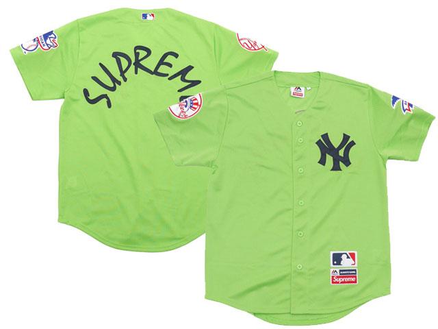 2015 Supreme Yankee Jersey Green 00fbcd08a68