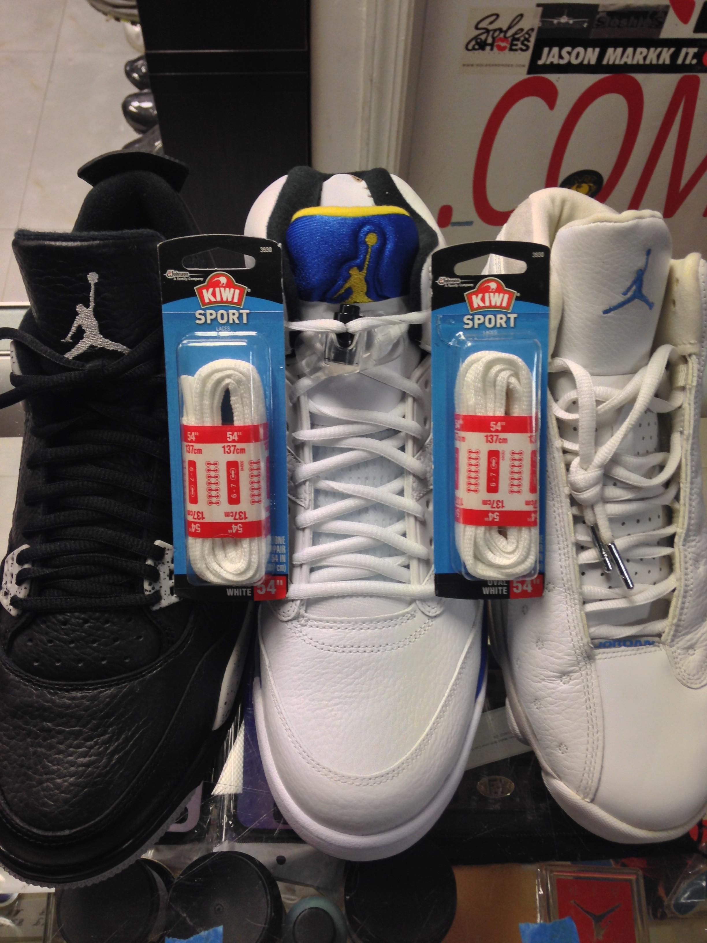 27c883d923e98e Kiwi Oval White Shoe Laces for Jordan IV