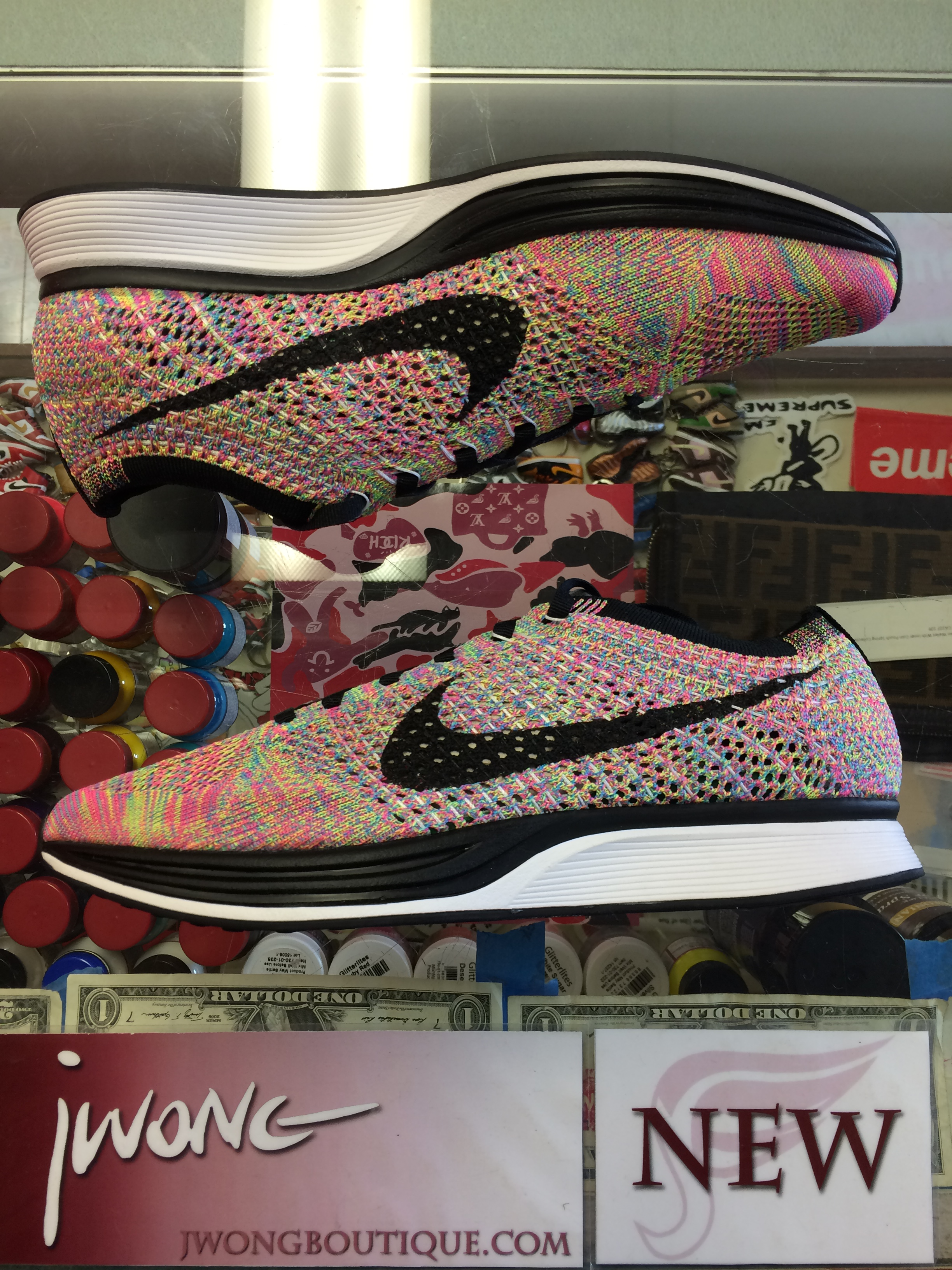 reputable site a9084 ac531 2016 Nike Flyknit Racer Multicolor Youth