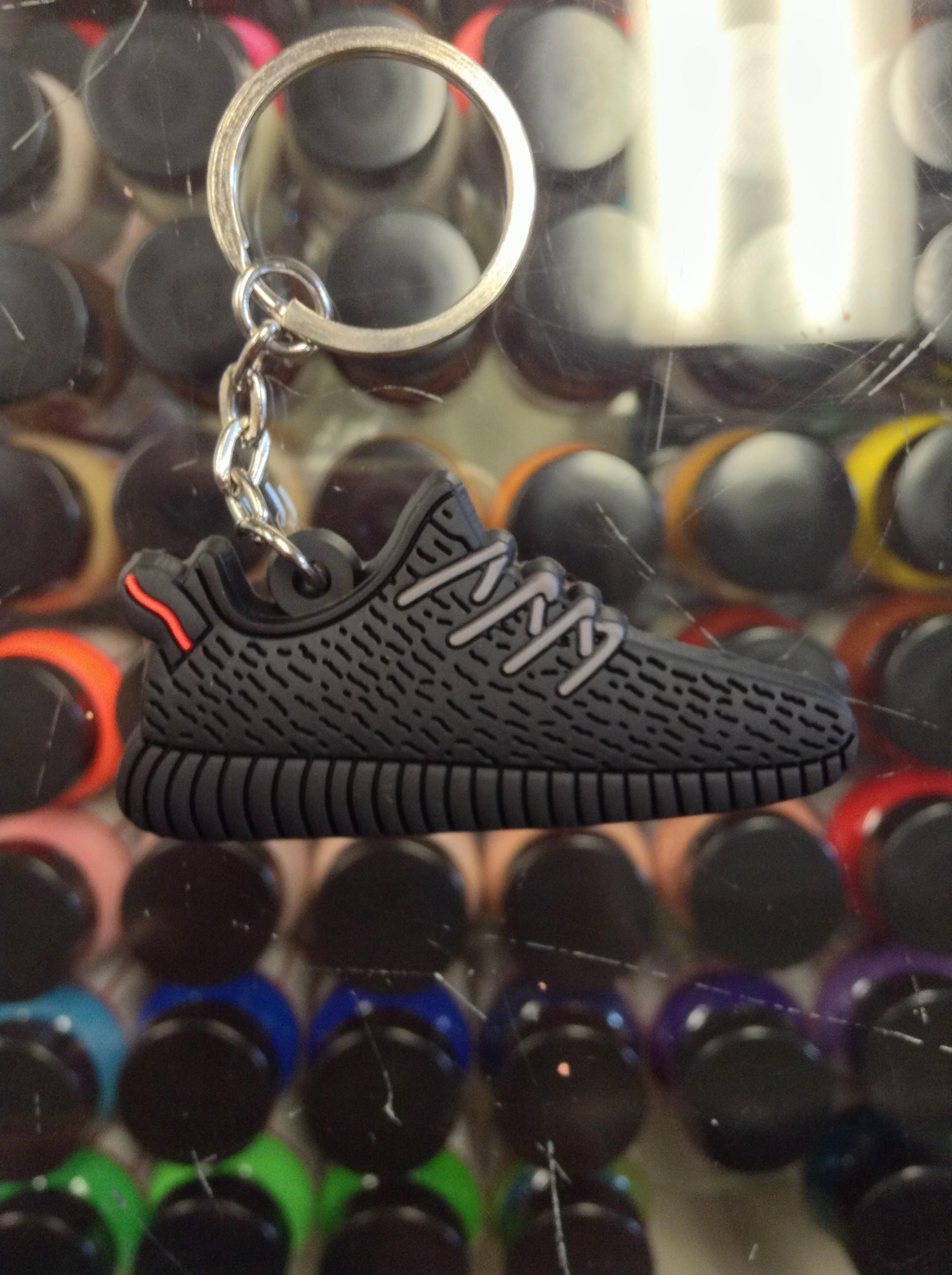 6edbefc50c01a 2015 Adidas Yeezy Boost 350 Pirate Black Red Stripe 2D Keychain ...