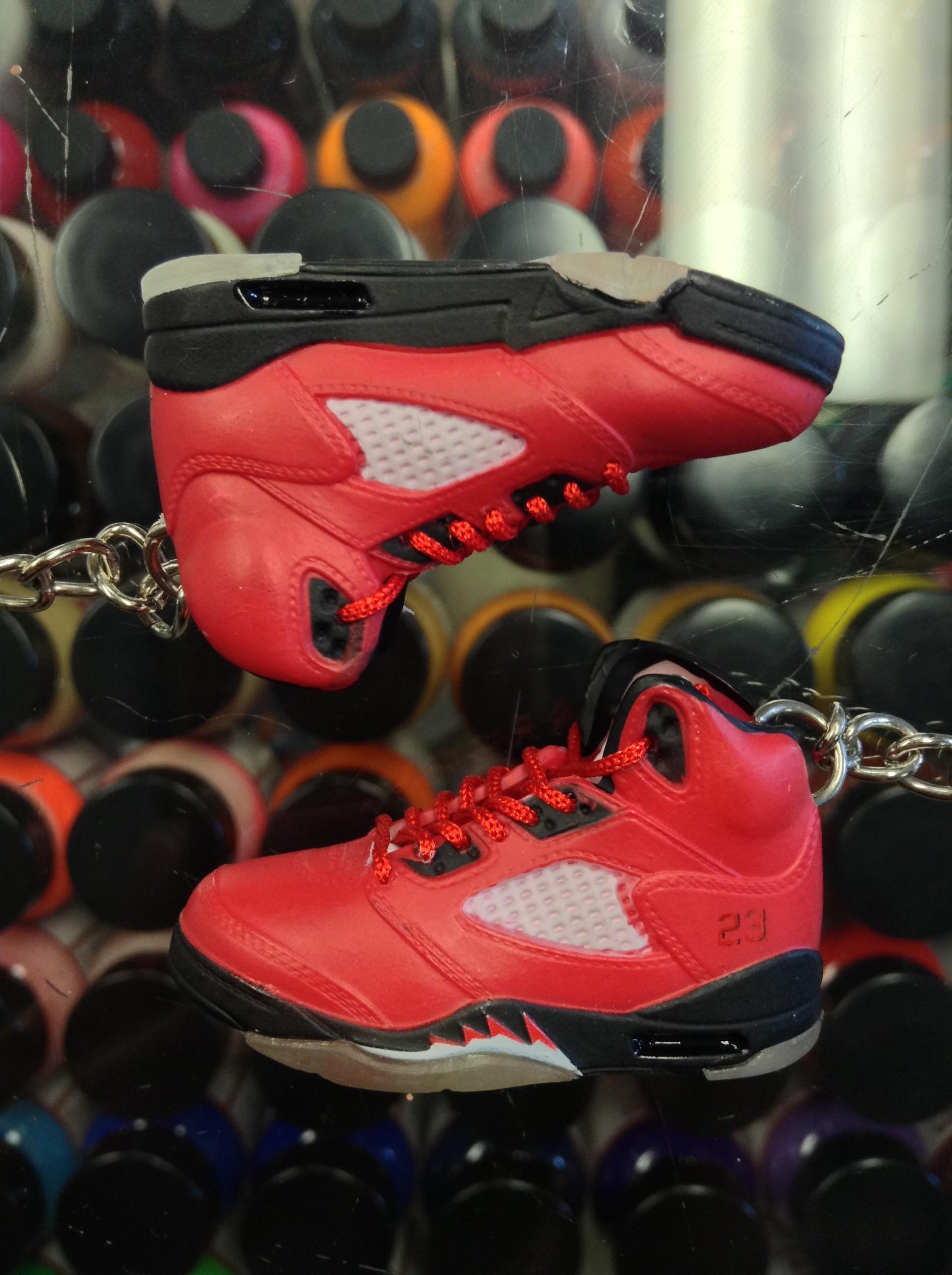 e4a2c352a7b21 2009 Nike Air Jordan V Raging Bull Red Suede 3D Keychain