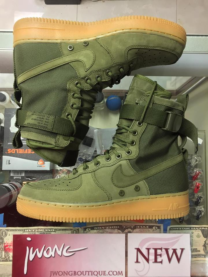 2016 Nike SF Air Force 1 Faded Olive Special Force  768304efe585
