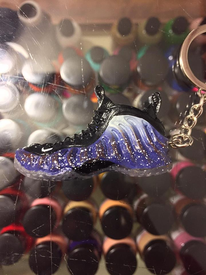 fc20bd6ae0d35 2012 Nike Air Foamposite One Galaxy 3D Keychain Shoe Laces Not ...