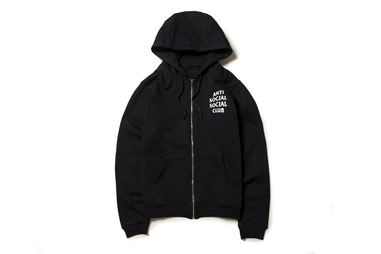 72deeebb14f4 2016 Anti Social Social Club Mind Game Black White Zipper Sweatshirt ...