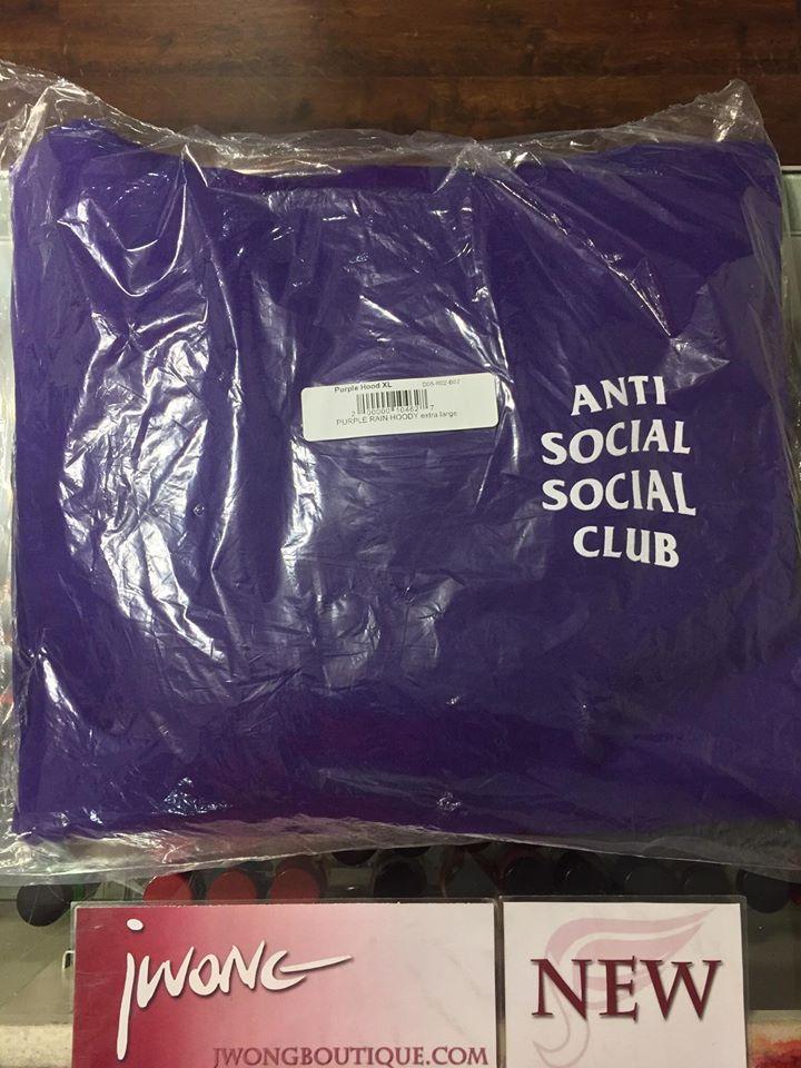 d3bd07f1e7b6 2017 Anti Social Social Club Purple Rain Hoodie Pullover