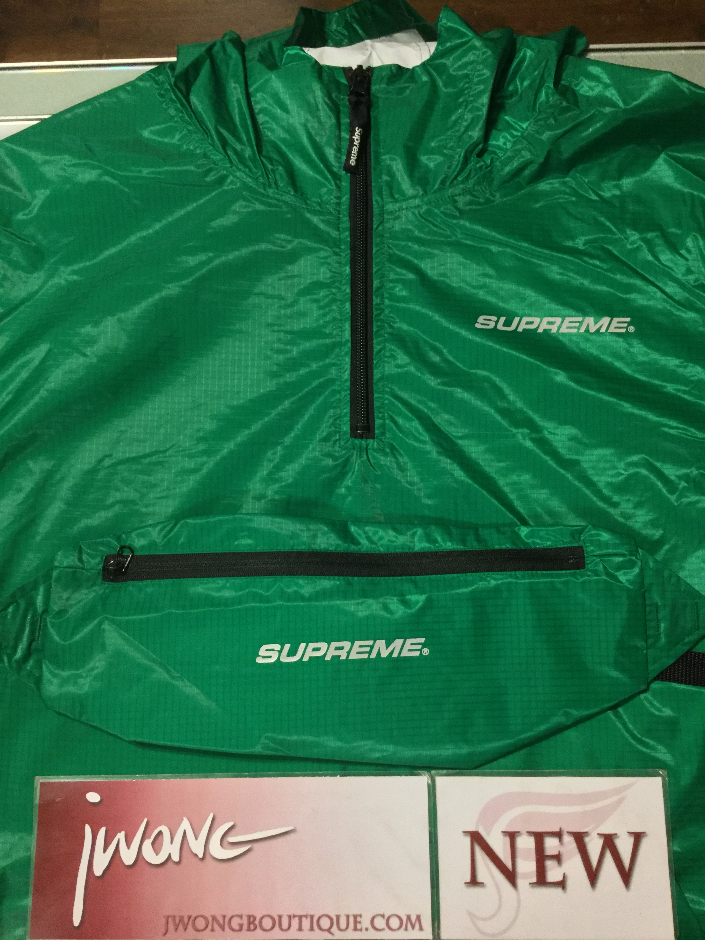 1e32c2ae36f8 2017 Supreme Packable Ripstop Pullover Green