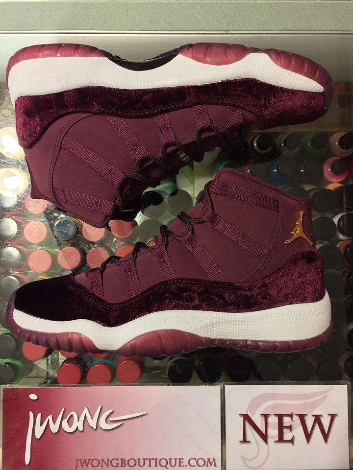 buy popular d7286 5d30f 2017 Nike Air Jordan XI RL GG Night Maroon Velvet   Jwong Boutique