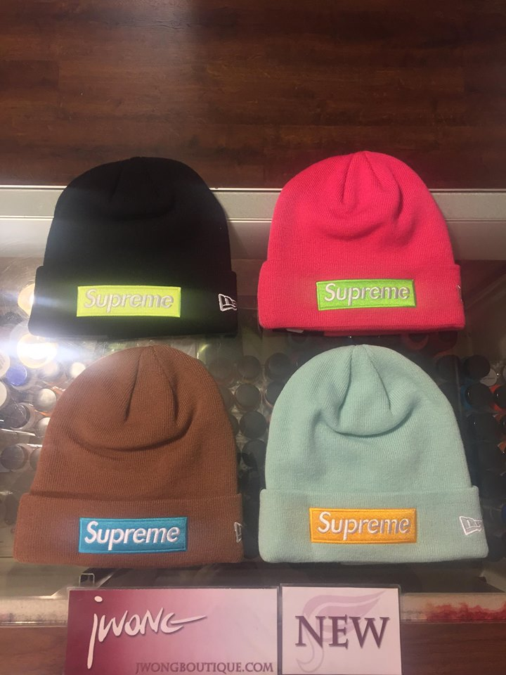 8badcbaa879 2017 Supreme New Era Box Logo Beanie New York