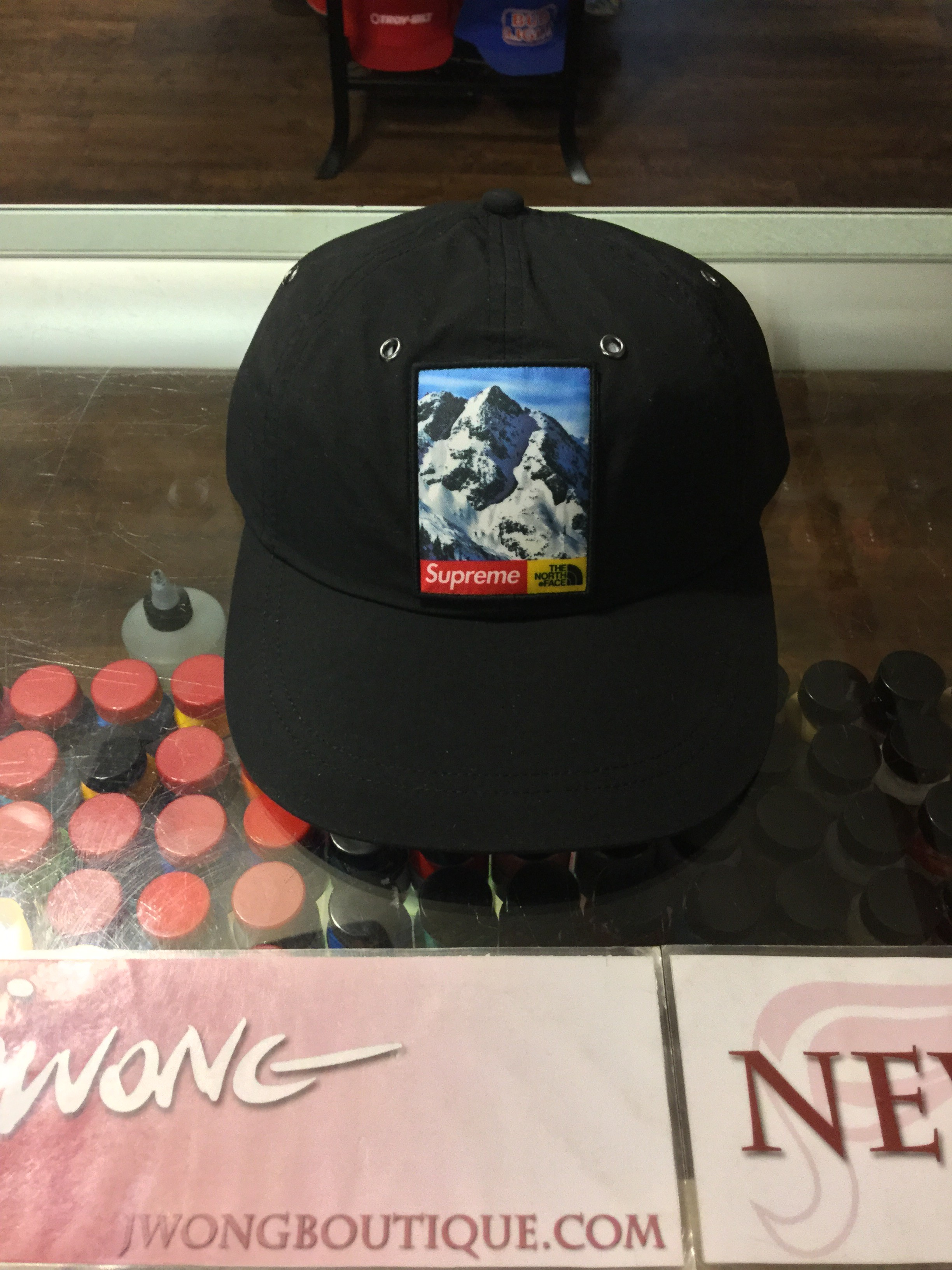 2017 Supreme The North Face Mountain 6-Panel Hat Black  1f221e170f4