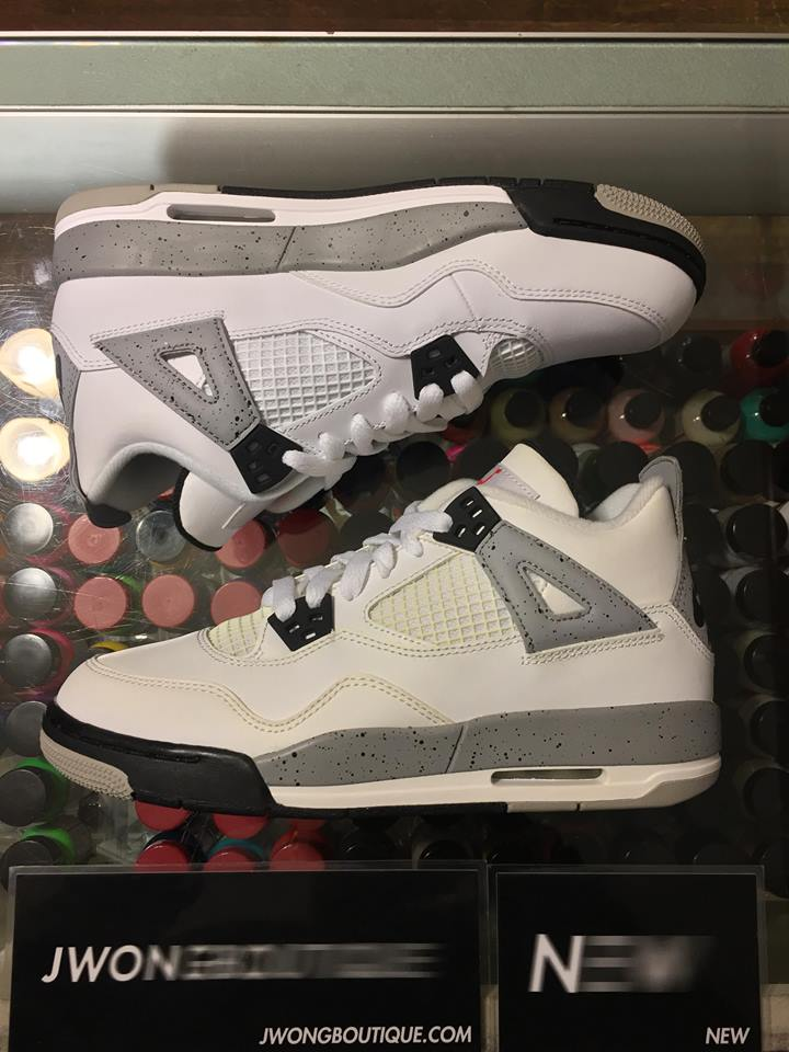 best website 8d266 76d28 2016 Nike Air Jordan IV White Cement Youth Yellowing   Jwong Boutique