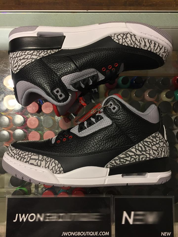 more photos 1ce4c 5638d 2018 Nike Air Jordan III Black Cement Men   Jwong Boutique