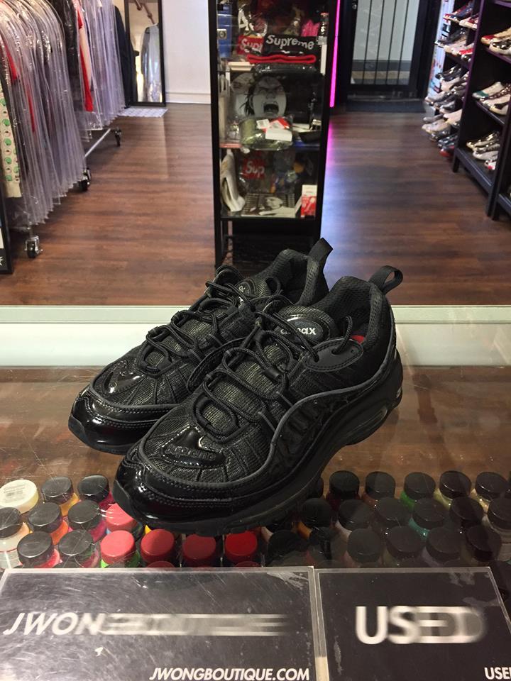 huge discount a1d31 92671 2016 Nike Air Max 98 Supreme Black