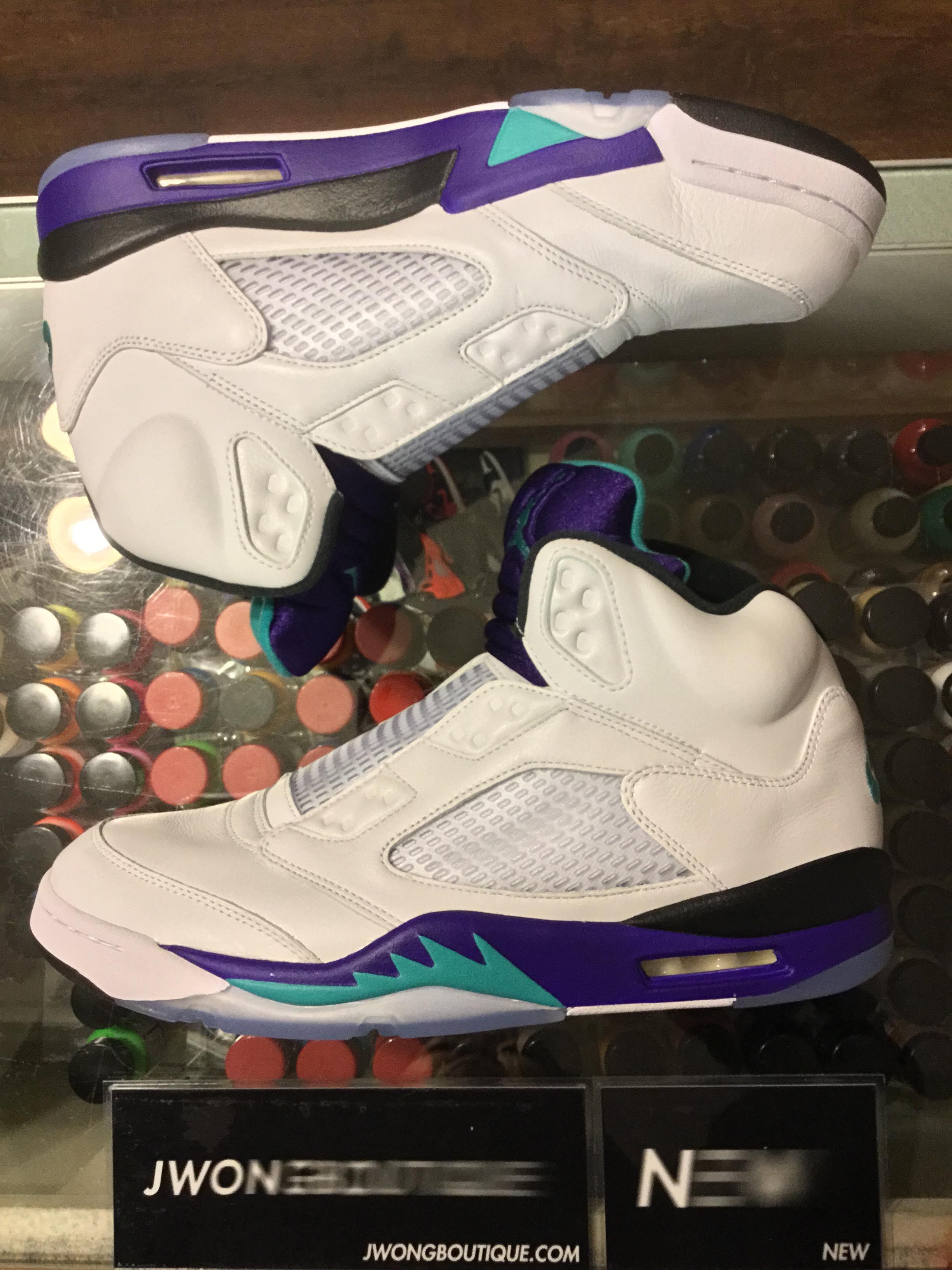 c849ee991716 2018 Nike Air Jordan V Grape Fresh Prince
