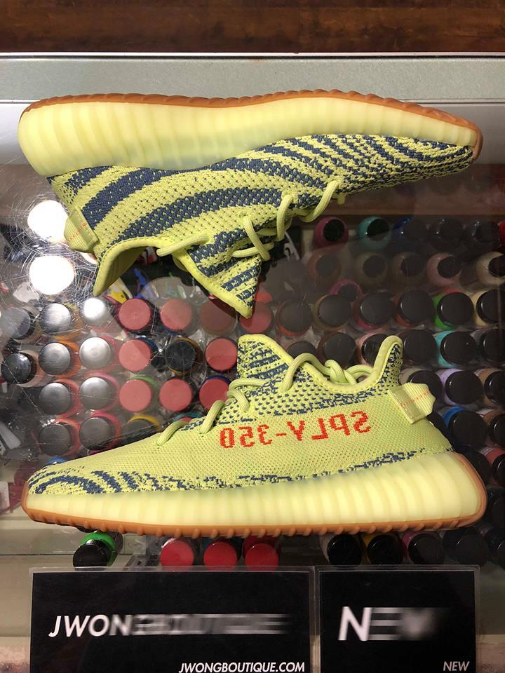 750caef9500c 2018 Adidas Yeezy Boost 350 V2 Semi Frozen Yellow Men