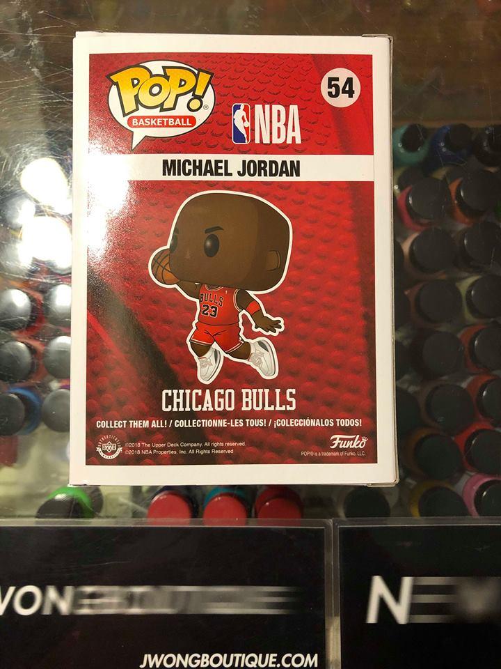 2019 Funko Pop Basketball Nba Michael Jordan Chicago Bulls