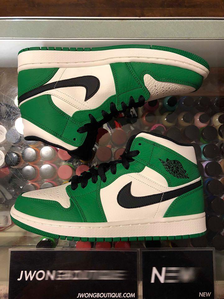 wholesale dealer a2bf9 707a2 2018 Nike Air Jordan I Mid Pine Green Men   Jwong Boutique