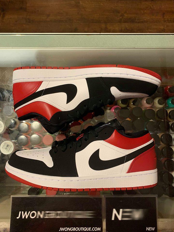 best sneakers e3899 63aef 2019 Nike Air Jordan I Low Black Toe Men   Jwong Boutique